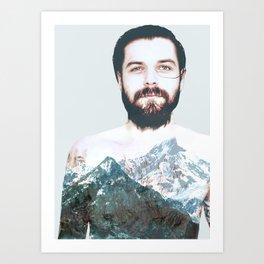 Simon Neil Mountains Art Print