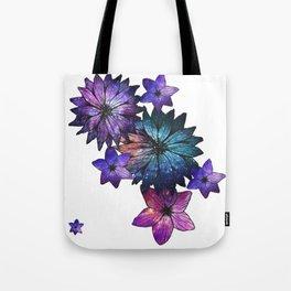 Space Flowers Tote Bag