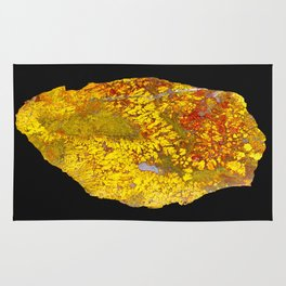 Cady Mountain Yellow Plume Agate Rug