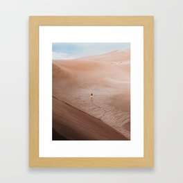 Moonscape musing in the Colorado Sand Dunes Framed Art Print
