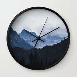 Austrian Alps Wall Clock