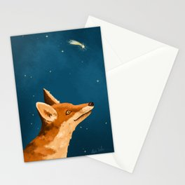 Fox and Stars Stationery Cards