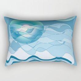 Sea Symphony in BLUE Rectangular Pillow