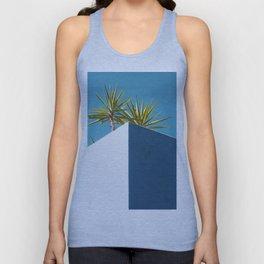 Cactus blue white Unisex Tank Top