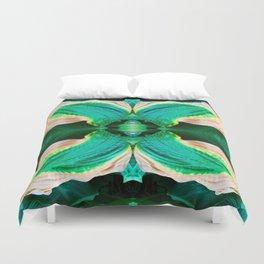 206 - Hosta plant abstract design Duvet Cover