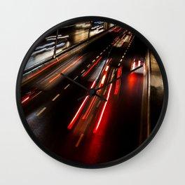 Street night traffic in Izmir (Turkey) Wall Clock