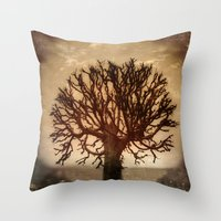 crown Throw Pillows featuring Crown by Armine Nersisian