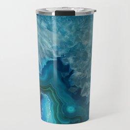 Teal Blue Agate slice Travel Mug