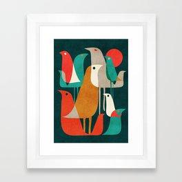Flock of Birds Framed Art Print
