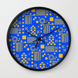 Wonderland Blue Wall Clock