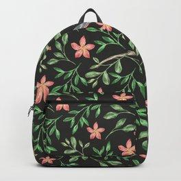 WATERCOLOUR FLORALS - BLACK Backpack