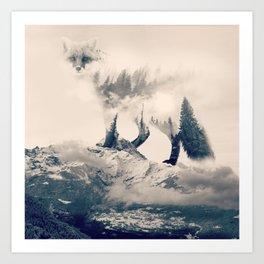 Fox Mountain Walker Art Print