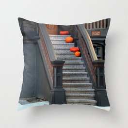 Two Dark Squats, Two Light Rounds Throw Pillow