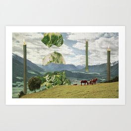 Grand Lettuce Alignment Art Print