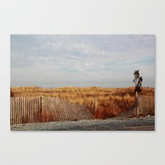 Beach in the Winter Canvas Print