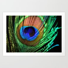 In the Peacock Mood Art Print