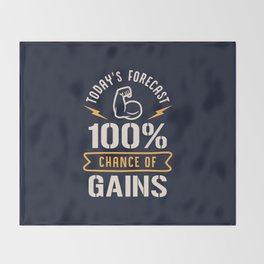 Today's Forecast 100% Chance Of Gains Throw Blanket