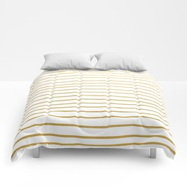 Gold Paris Stripe Pattern Comforters