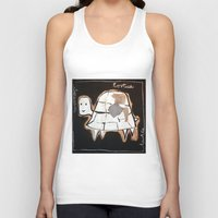 turtle Tank Tops featuring turtle by woman