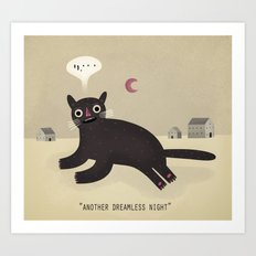 what haunts a cat? Art Print