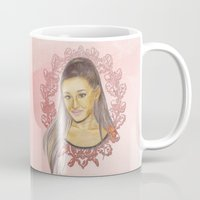 ariana grande Mugs featuring Ariana II by Share_Shop