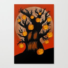 Halloween Tree Canvas Print
