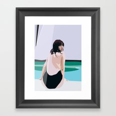 Painted Poolside Framed Art Print
