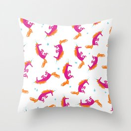 Unicorn-a-plenty Throw Pillow