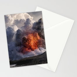 Kilauea Volcano at Kalapana 8 Stationery Cards