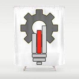 Gear bulb shaped - Vector Shower Curtain