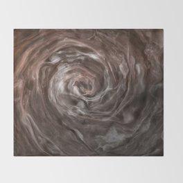 Coffee and cream swirl Throw Blanket