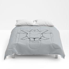 Vitruvian Bear Grey Comforters