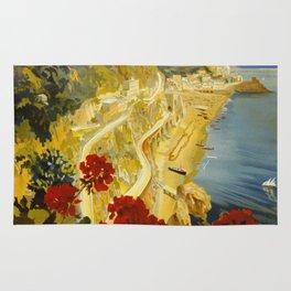 Vintage Amalfi Italy Travel Rug