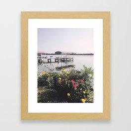 Late Summer on the Lake, Wisconsin Framed Art Print