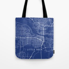 Little Rock, USA - Blue Tote Bag