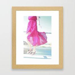Wind Pink Framed Art Print