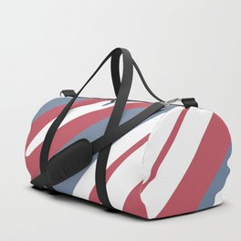 Abstraction from smooth waves. Symbolic blue, red, white colors. Duffle Bag