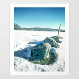 Winter Pastels Art Print