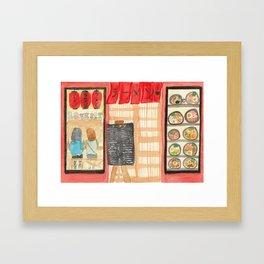 Ramen Bar Store Front Framed Art Print