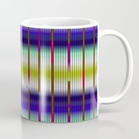 grid Mugs featuring GRID by Tatiana Couto