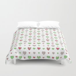 For the love of Watermelon   Duvet Cover
