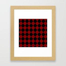 Red and Black Check Framed Art Print