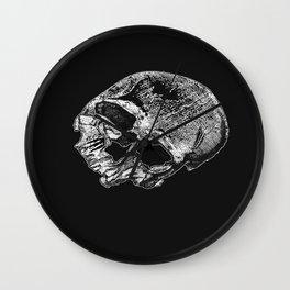 Human Skull Vintage Illustration  Wall Clock