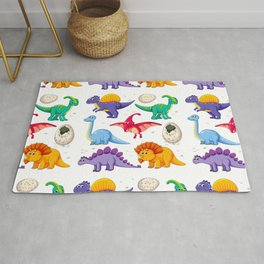 colorful dinosaurs Rug