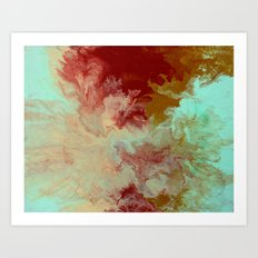 Blue,Yellow, Red Art Print