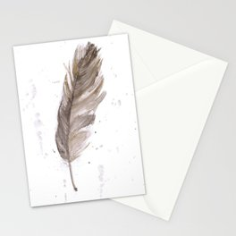 Found feather Stationery Cards