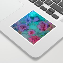 Flowers abstract #2 Sticker