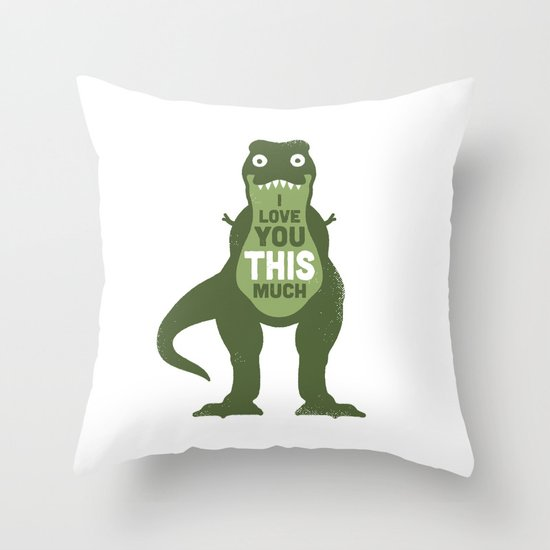 Amourosaurus Throw Pillow