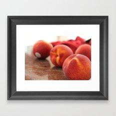 Peaches for Days Framed Art Print