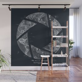 Traveling Lens (Dark Blue) Wall Mural